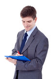 Business man With a Clipboard Royalty Free Stock Photo