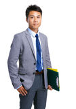 Business man and clipboard Royalty Free Stock Photo