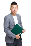 Business man with clipboard Stock Photos