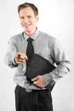 Business man with clipboard Royalty Free Stock Photography