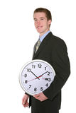 Business Man with Clock Stock Photos