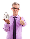 Business Man and Clock Stock Photos
