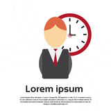 Business Man Clock Time Management Deadline Concept Royalty Free Stock Images