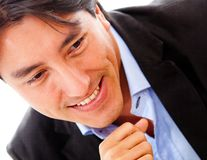 Business man closeup Stock Images