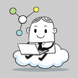 Business man Cloud Royalty Free Stock Photo