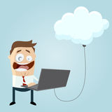 Business man is cloud computing Stock Images