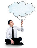 Business man and cloud Royalty Free Stock Photography