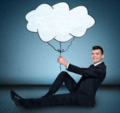 Business man and cloud Royalty Free Stock Photo