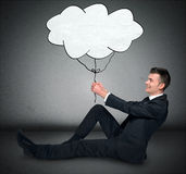 Business man and cloud Royalty Free Stock Images