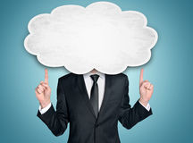 Business man and cloud Stock Images