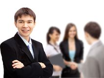 Business man with colleagues Stock Images
