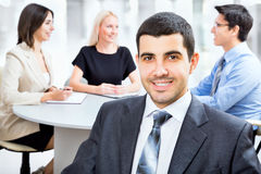 Business man with colleagues Royalty Free Stock Photos