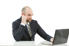 Business man concentrated on his work Royalty Free Stock Photography