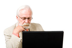 A business man concentrating. On his computer Stock Photography