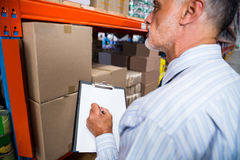 Business man is concentrating during his work Stock Image