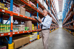Business man is concentrating during his work Stock Photo