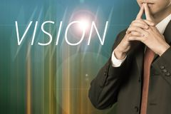Business man with concept of vision Stock Photography
