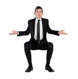 Business man confused expression Royalty Free Stock Images