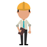 Business man construction clipboard helmet Royalty Free Stock Photos