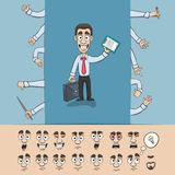 Business man construction pack royalty free illustration