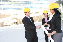 Business Man and Construction Woman Royalty Free Stock Photography