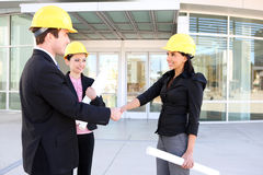 Business Man and Construction Woman Royalty Free Stock Photos