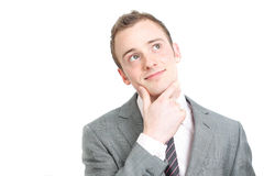 Business man contemplating Royalty Free Stock Image