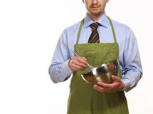 Business man cooking Stock Photo