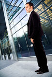 Business man in an corporate environment Stock Image