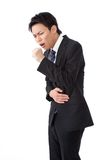 Business man with a cough Stock Image