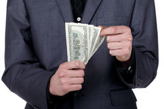 Business man counting some money Stock Photo