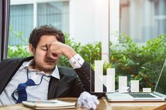 Business man crash stress Royalty Free Stock Photo