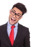 Business man crazy with mouth opened Stock Images