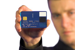 Business man - credit card Stock Photo