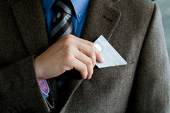 Business man with credit card Stock Image