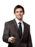 Business man with credit card Stock Photos