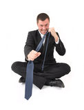 Business man in crisis Royalty Free Stock Images