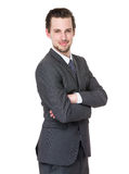 Business man cross arm Stock Photography