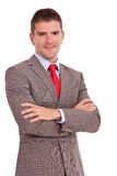 Business man with crossed arms Royalty Free Stock Photography