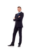 Business man with crossed hands Stock Photography