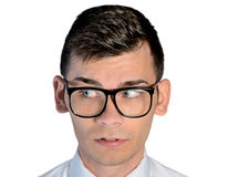 Business man curious face Royalty Free Stock Images