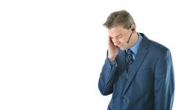Business man or customer service representative Stock Image