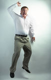 Business man dancing Stock Photography