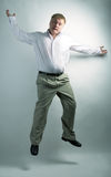 Business man dancing Royalty Free Stock Photos
