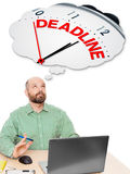 Business man deadline Stock Image