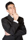 Business man deep in thought Stock Image