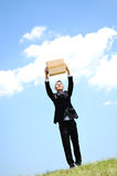 Business Man delivery box Stock Images