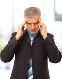 Business man in depression Stock Image