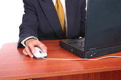 Business man desk 1 royalty free stock photography
