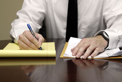 Business Man at Desk Stock Images